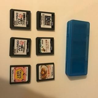 ニンテンドーDS 6本+青のソフトケース付き