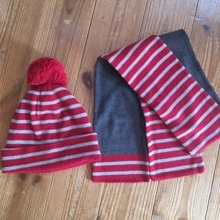 無印良品 ニット帽、マフラーセット