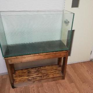 【引取】GEX水槽 90×33×51cm ガラス厚10mm 水槽台...