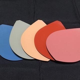 昭和レトロ 木の葉形銘々皿 デザイン菓子皿 五色組