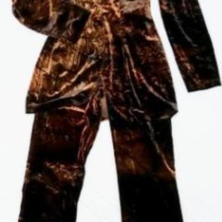 イタリア製 ストレッチ ベロア パンツ スーツ M
