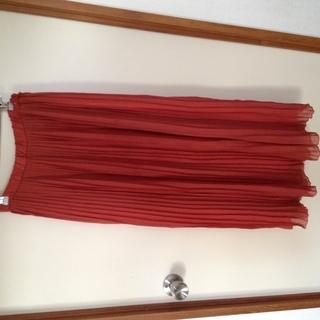 ロングスカート オレンジ Mサイズ
