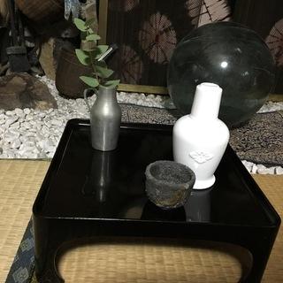 黒ぬりのお膳  4つ