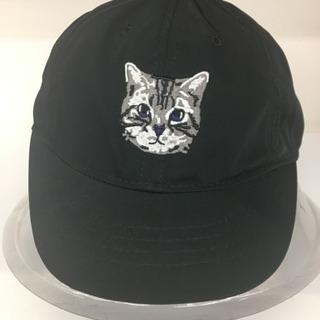 猫 ワンポイント キャップ 黒 可愛い  新品