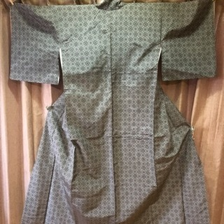 新品未使用 着物 正絹 仕立て糸付き 紬 羽織セット アンサンブル