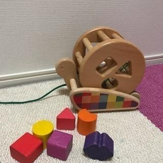 カラフルプールトーイ かたつむり 木のおもちゃ