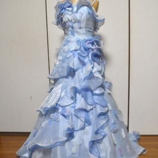 ウェディングドレス  カラードレス  爽やかなブルー