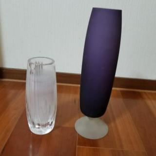 ガラス花瓶 二種類