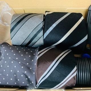 ネクタイハンガー&メンズ ネクタイ 4本セット