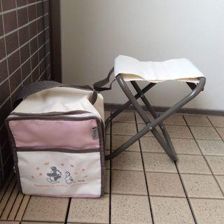 折りたたみ椅子とバッグのセット
