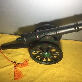 大砲 金属工芸 置物 オブジェ