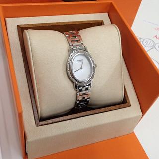 ♪HERMES/エルメス 腕時計 クリッパーオーバル OH済 C...