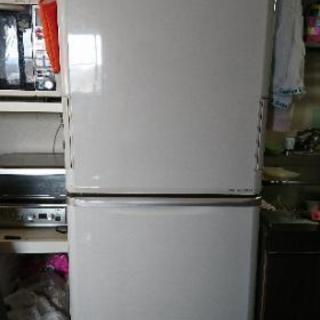 【売約済】両開き 3ドア 冷蔵庫 プラズマクラスター  350L...