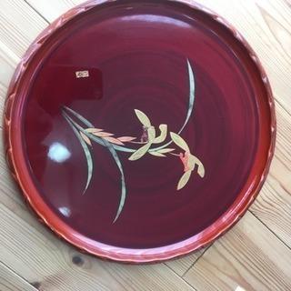 会津塗り丸盆