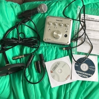 tascam us-322 + マイクセット