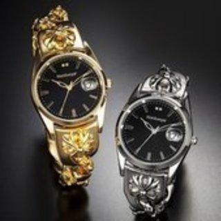 スイスブランドダイヤモンドガイアール 腕時計 ゴールドorプラチ...