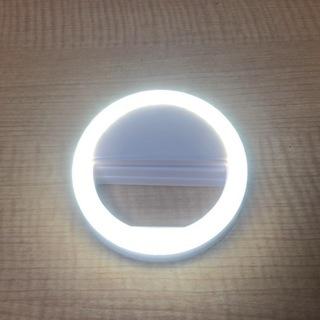 【ホワイト・ヤマト運輸DM便発送】サークルスマホ用LEDライト