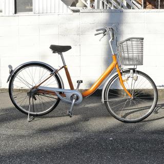 24インチ 中古自転車シティサイクル(ママチャリ型) しっかりし...