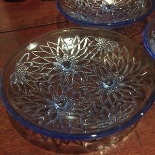 昭和レトロ ガラス小皿 5枚セット