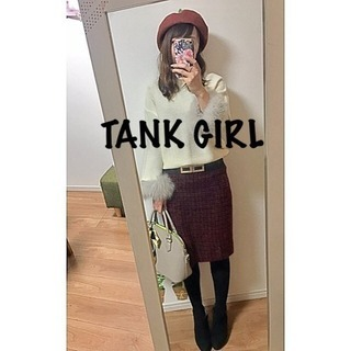 ☆TANK GIRL☆タンクガール  ツイードタイトスカート