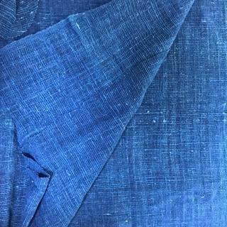 手織り木綿 藍染 残布 (その他色違いおまけ)