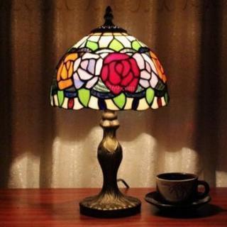 薔薇 ステンドグラス ティファニーランプ