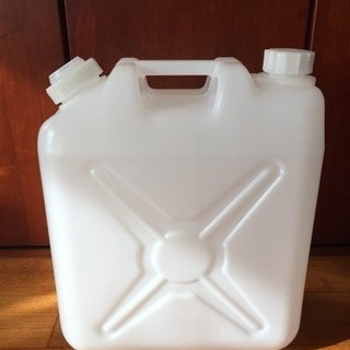 【残り2個】水缶・ポリタンク白20リットル  2個セット