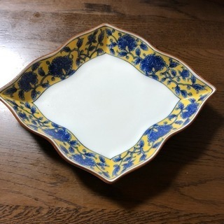 【新品未使用】たち吉 黄地牡丹 煮物皿 5枚セット