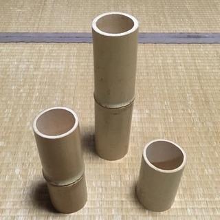 竹のキャンドルホルダー ろうそく立て 竹筒