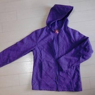 ソフトシェル 140〜150センチ 薄手 裏フリース 紫 美品