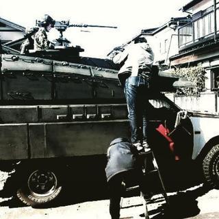 映画のVFX用セット作ります。工藤美術★映像美術賜ります。戦車セ...