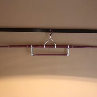 3段伸縮 帯掛付ワイン色  和装ハンガー 和装小物 着物  着付け小物 着物ハンガー - 京都市