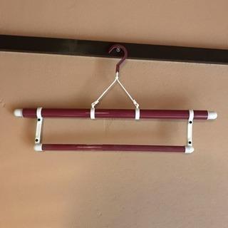 3段伸縮 帯掛付ワイン色  和装ハンガー 和装小物 着物  着付...