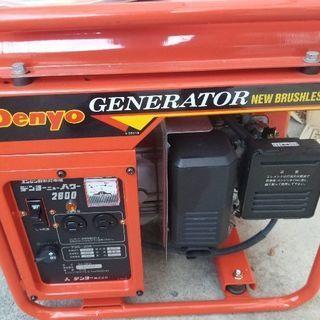 新品未使用 デンヨー発電機 ga-2600 エンジン発電機