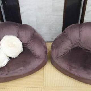 一人掛けソファー 2つセットローズクッションつき - 家具