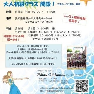 春日井市フラダンス教室 新クラスメンバー募集