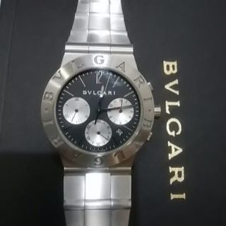 ブルガリのメンズ腕時計 クロノグラフCH35S 傷もほとんどなく...