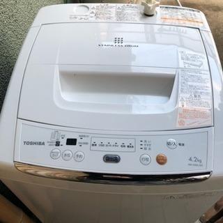 美品! 東芝 4.2kg 全自動洗濯機 2012年製