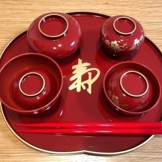 お食い初め用食器 赤