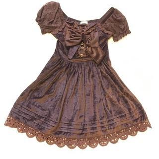 LIZ LISA パーティ ドレス 茶色