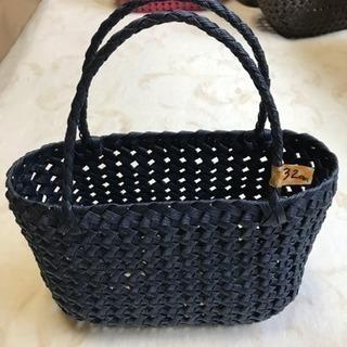 ✳️石畳編みバッグ ☆ブルー☆✳️
