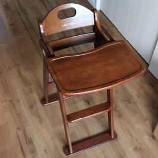 木製 テーブル付き子供用椅子 折りたたみ可能