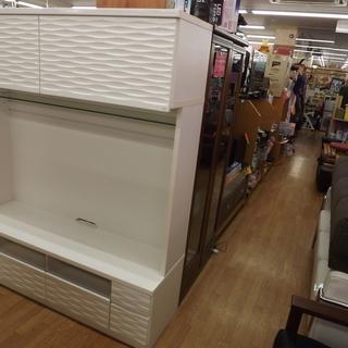 壁面ユニット テレビボード 鏡面 エナメル 収納付き 幅:150...