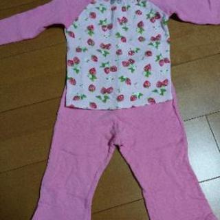 ノーブランド パジャマ 長袖 いちご柄 ピンク 95 100サイズ