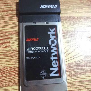 BUFFALO 11Mbps 無線LAN子機 ノートパソコ…