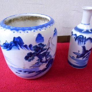 陶器 火鉢/酒壺・壺・花瓶セット