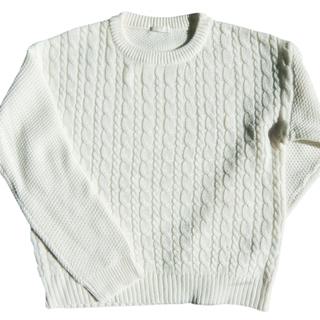 GU 白丸首セーター
