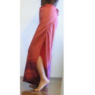 【値下げ】個性的 エスニック スカートパンツ/  インド(ピンク...