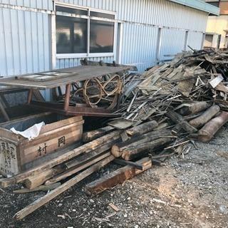 解体家屋の木材