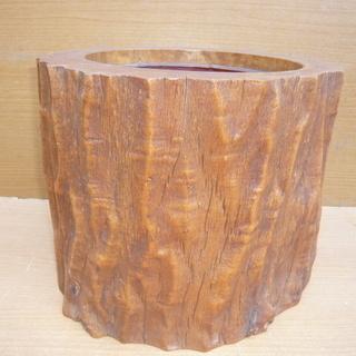天然木使用の火鉢